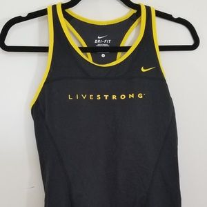 Nike dri fit tank top Livestrong size small